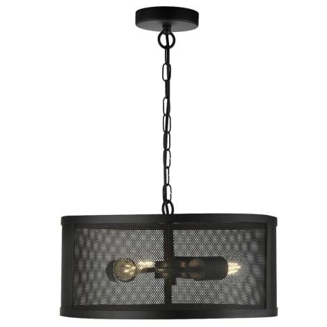 Searchlight - Lustr na řetězu FISHNET 3xE27/60W/230V černá