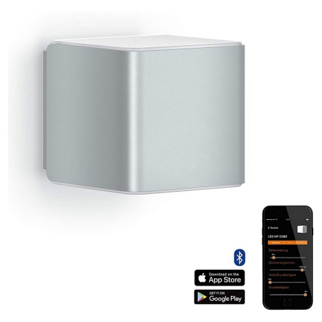 Steinel 055547 - LED Venkovní svítidlo se senzorem L 840 LED/9,5W/230V IP44 stříbrná