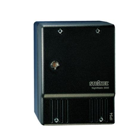 STEINEL 550516 - Soumrakový spínač NightMatic 3000 Vario černá