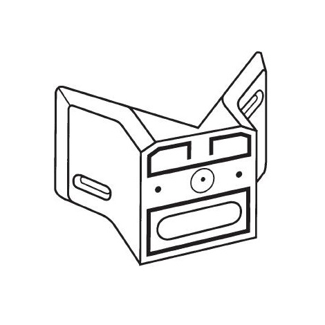 STEINEL 630119 - Rohový držák 01 černý