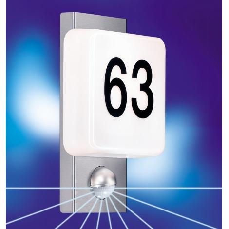 STEINEL 643614 - Nástěnná lampa se senzorem L 863 S nerez ocel