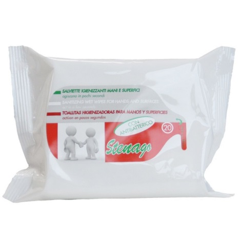 Stenago - Antibakteriální vlhčené ubrousky 20 ks
