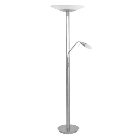Stojanová lampa TURN 1x2GX13/55W + 1xE14/9W matný chrom / bílá