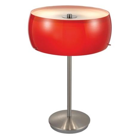 Stolní lampa CAMARO 3xE14/40W červená