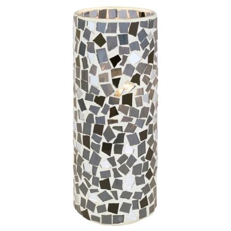 Stolní lampa DIEGO 1 1xE27/60W černá/stříbrná/bílá