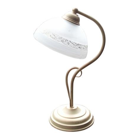 Stolní lampa FATIMA 1xE27/60W béžová