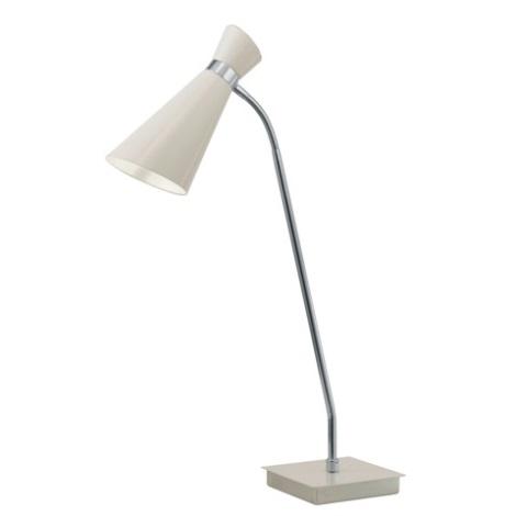 Stolní lampa FIDO 1xE27/60W krémově bílá