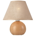 Stolní lampa JUTA 1xE27/60W/230V dub/béžová