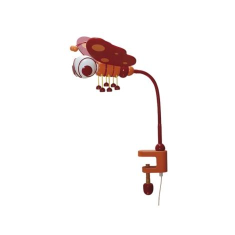 Stolní lampa MOTÝL červená/oranžová
