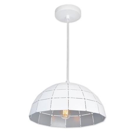 Top Light Apolo 30B - Lustr na lanku 1xE27/40W/230V bílá/stříbrná