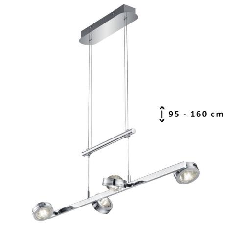 TRIO - LED Lustr na lanku LENTIL 8xLED/2,3W/230V