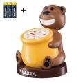 Varta 17501 - LED Dětská projektorová lampa PAUL 2xLED/3xAAA