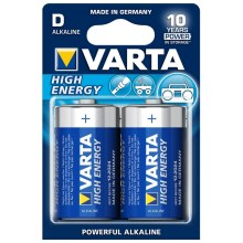 Varta 4920 - 2 ks Alkalická baterie HIGH ENERGY D 1,5V