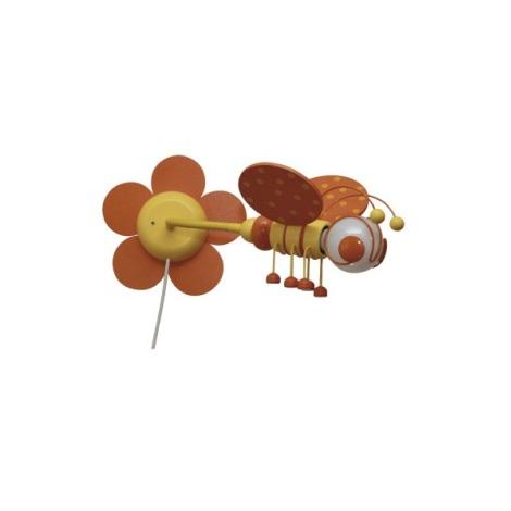 VČELKA nástěnka oranžová/žlutá 1xE27/60W + vypínač