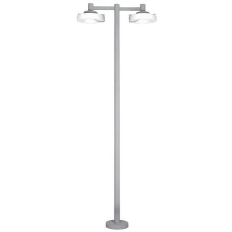 Venkovní lampa ROI 2x2Gx13/22W stříbrná / bílá