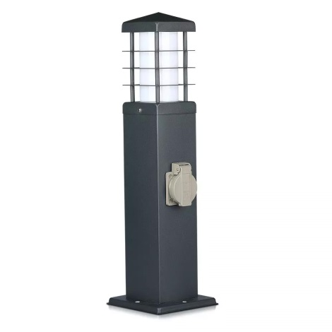 Venkovní lampa se zásuvkami 1xE27/13W/230V IP44