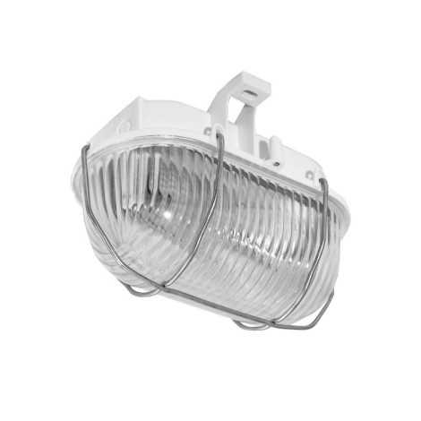Venkovní nástěnné svítidlo OVAL 1xE27/60W/230V bílá IP44