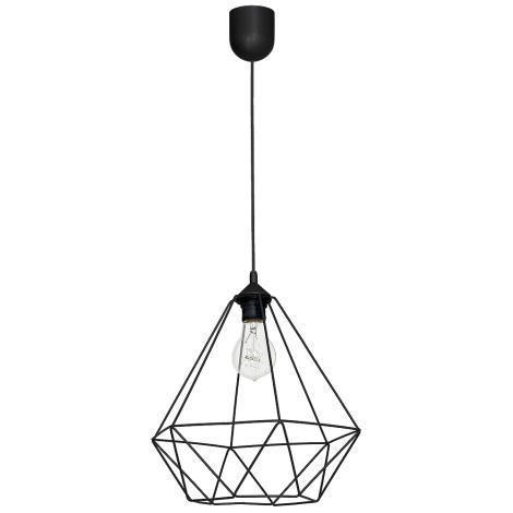 Závěsné svítidlo BASKET 1xE27/60W/230V černá